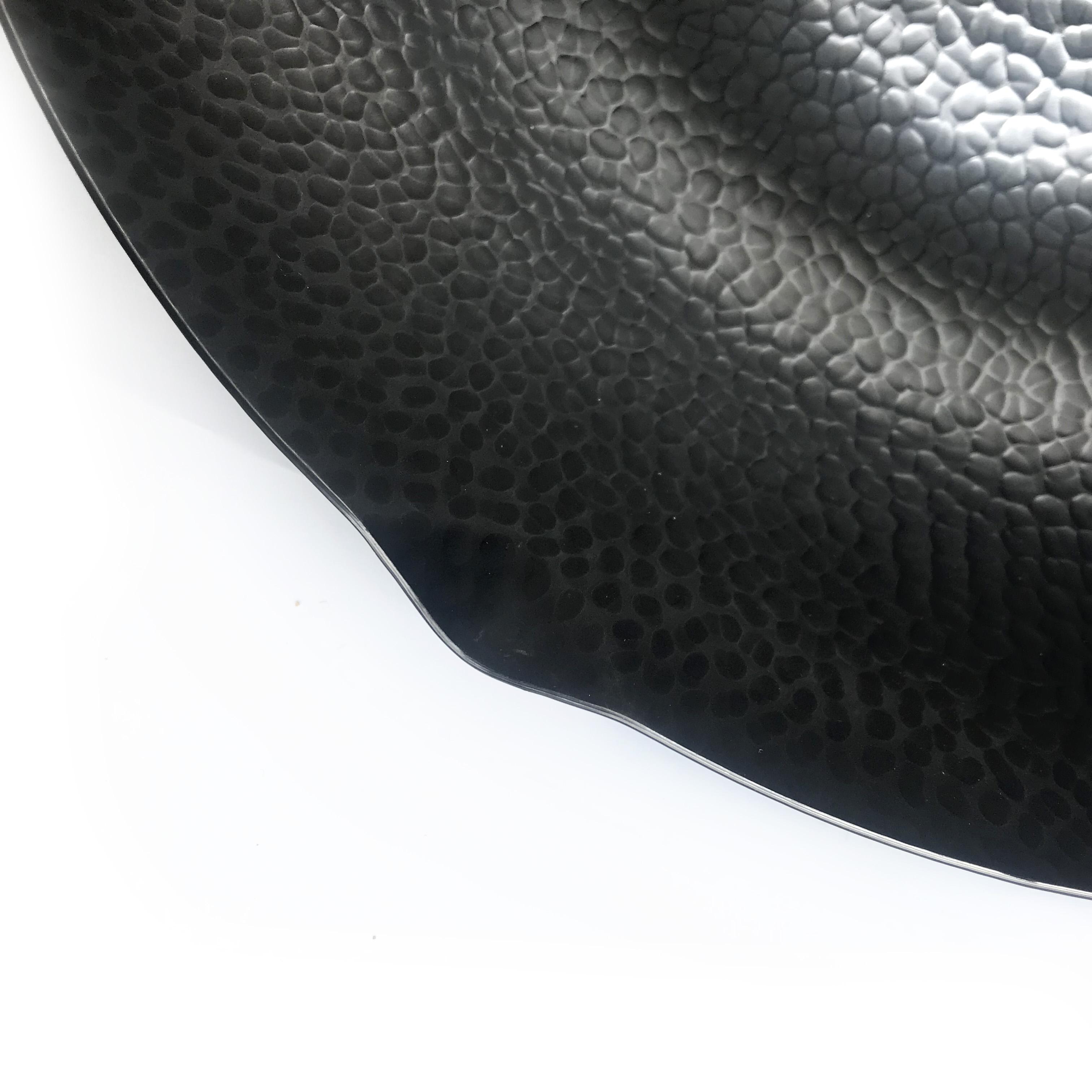 Beautiful Hammered Mark Pattern Carbon Steel Wok