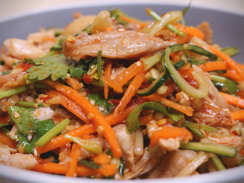 Szechuan Spicy Shredded Chicken Salad
